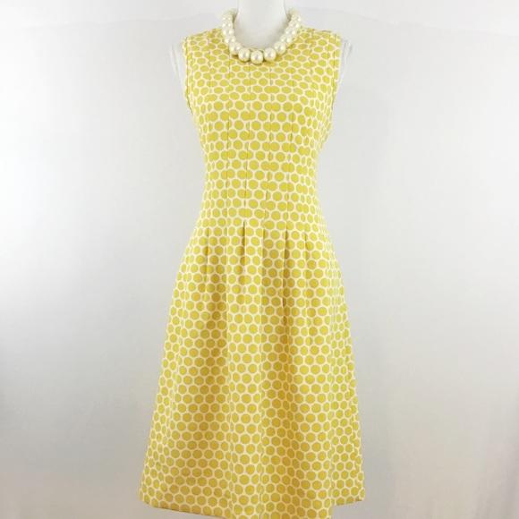DownEast Dresses & Skirts - DOWNEAST POLKA DOT YELLOW MIDI DRESS